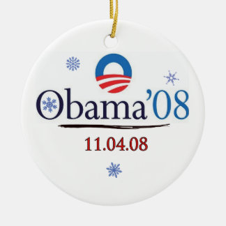 Obama '08 Commemorative Christmas Ornament
