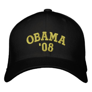 OBAMA '08 EMBROIDERED HAT