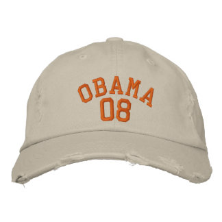 OBAMA 08 EMBROIDERED HAT