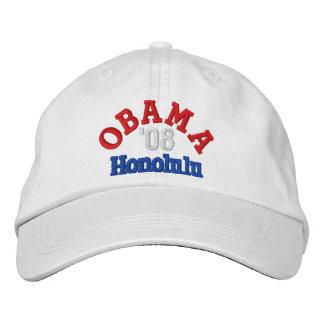 Obama '08 Honolulu Hat Embroidered Baseball Caps