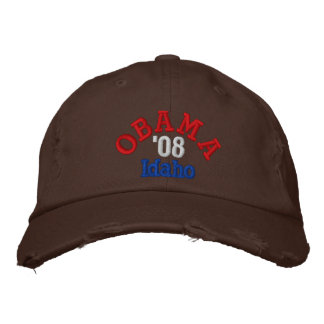 Obama '08 Idaho Hat Embroidered Hats