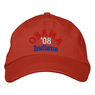 Obama '08 Indiana Hat Embroidered Baseball Cap