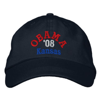 Obama '08 Kansas Hat Embroidered Hat