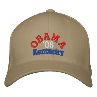 Obama '08 Kentucky Hat Embroidered Hats
