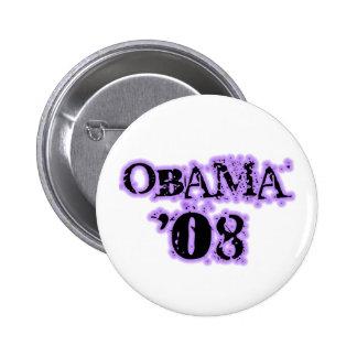 Obama 08 Lilac Edge Button