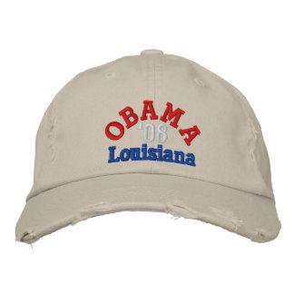 Obama '08 Louisiana Hat Embroidered Hats