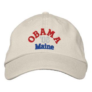 Obama '08 Maine Hat Embroidered Baseball Caps