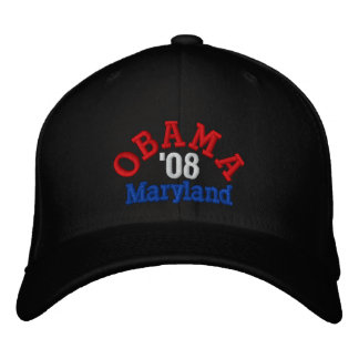 Obama '08 Maryland Hat Embroidered Hats
