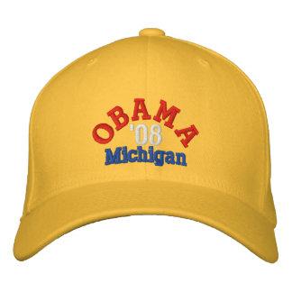 Obama '08 Michigan Hat Baseball Cap