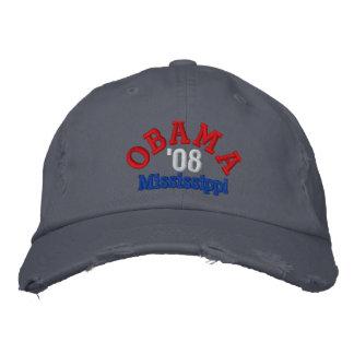 Obama '08 Mississippi Hat Embroidered Baseball Caps
