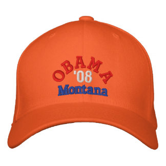 Obama '08 Montana Hat Embroidered Hat