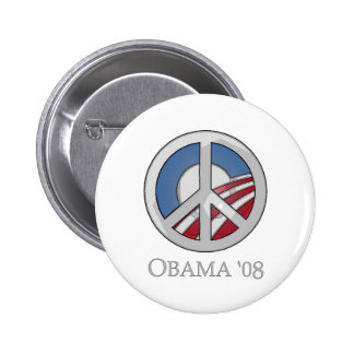 OBAMA '08 Peace Sign Button
