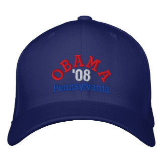 Obama '08 Pennsylvania Hat Embroidered Hat