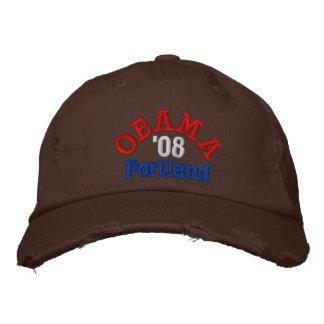 Obama '08 Portland Hat Embroidered Baseball Caps