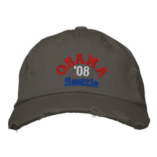 Obama '08 Seattle Hat Embroidered Hat
