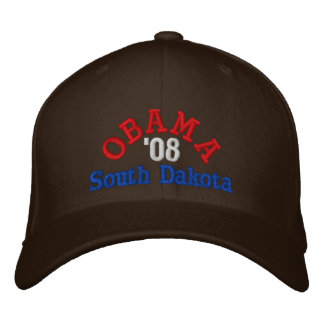 Obama '08 South Dakota Hat Embroidered Hat