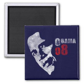 Obama 08 square magnet