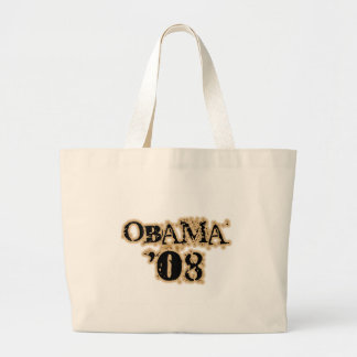 Obama 08 Tan Canvas Bags