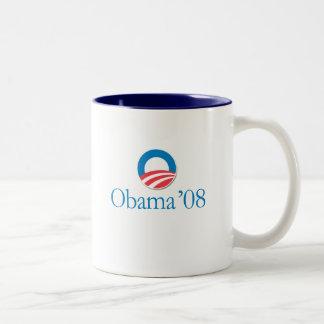 Obama '08 Two-Tone coffee mug