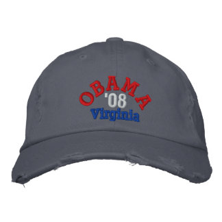 Obama '08 Virginia Hat Embroidered Hats