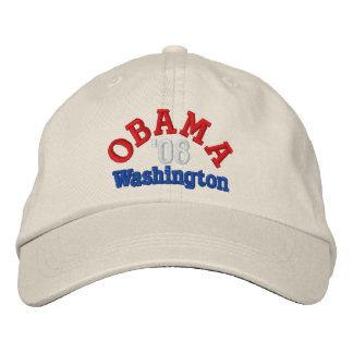 Obama '08 Washington Hat Embroidered Baseball Caps
