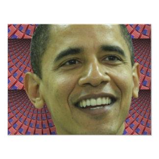 Obama 11 Cm X 14 Cm Invitation Card