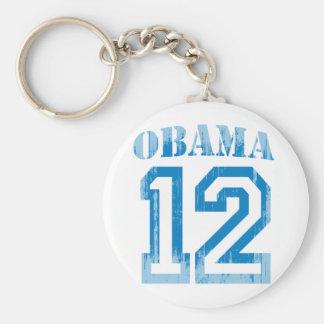 OBAMA 12 JERSEY BLUE Vintage.png Basic Round Button Key Ring