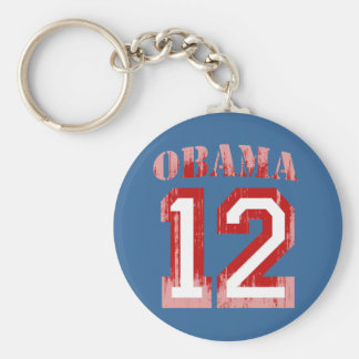 OBAMA 12 JERSEY RED Vintage png Keychain
