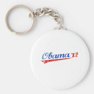 OBAMA 12 LOGO Vintage.png Basic Round Button Key Ring
