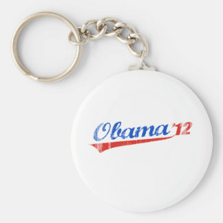 OBAMA 12 LOGO Vintage.png Keychain