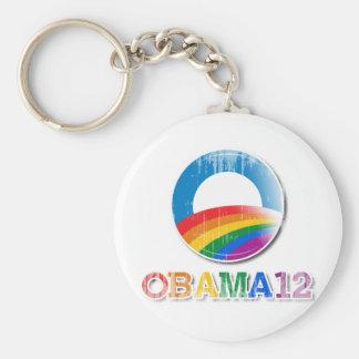 Obama 12 - Vintage.png Basic Round Button Key Ring