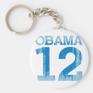OBAMA 12 Vintage.png Basic Round Button Key Ring