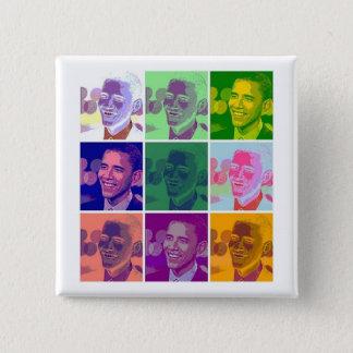 obama 15 cm square badge