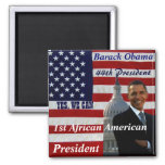 Obama,1st African American President_Magnet Square Magnet