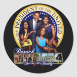 OBAMA-1ST FAMILY Sheet of Stickers