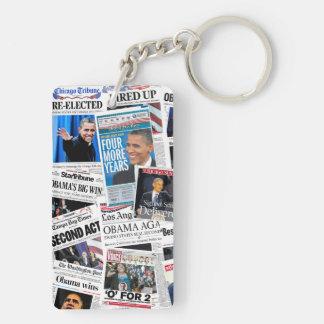 Obama 2008/2012 Victory Newspaper Keychain