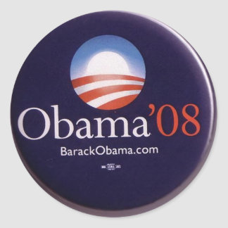 Obama 2008 classic round sticker