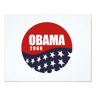 Obama 2008 T-shirt 11 Cm X 14 Cm Invitation Card