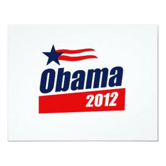 Obama 2012 11 cm x 14 cm invitation card