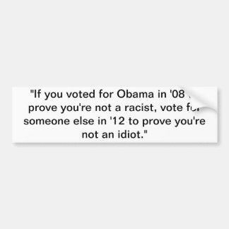 "Obama ""2012"" bumper sticker"