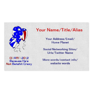 OBAMA 2012 BUSINESS CARD TEMPLATE