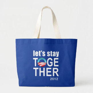 Obama 2012 campaign - Let's stay together Tote Jumbo Tote Bag