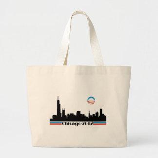 Obama 2012 - Chicago Skyline Canvas Bags