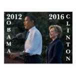 Obama 2012 & Clinton 2016 Post Card
