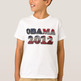 Obama 2012 Flag Kid's T-Shirt