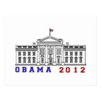 Obama 2012 for Whitehouse Postcard