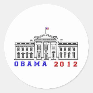 Obama 2012 for Whitehouse Round Sticker