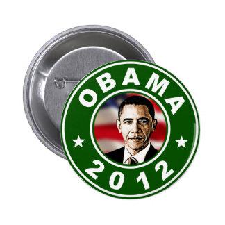 Obama 2012 Green 6 Cm Round Badge