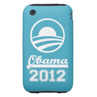 OBAMA 2012 iPhone 3 Tough Case-Mate aqua