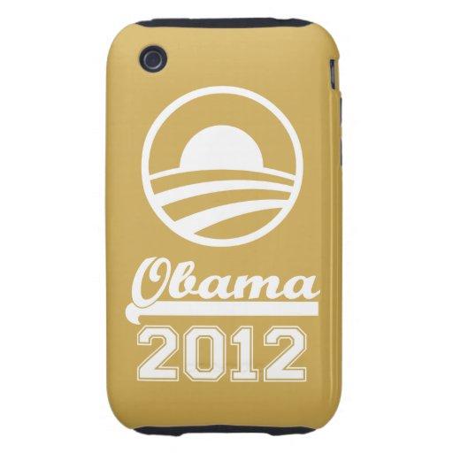 OBAMA 2012 iPhone 3 Tough Case-Mate (gold)